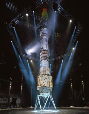 A vast rocket constructed from junk.