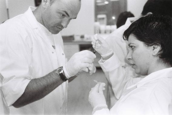 Gary Cass, SymbioticA, and architect Sana Murrani in the Biotech Art Workshop; 2005