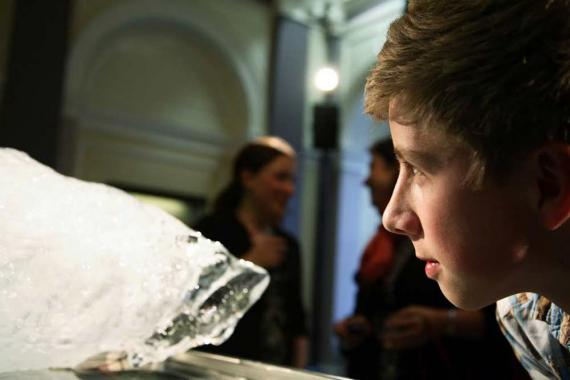 Anne Brodie's melting ice installation, commissioned by The Arts Catalyst for Bipolar