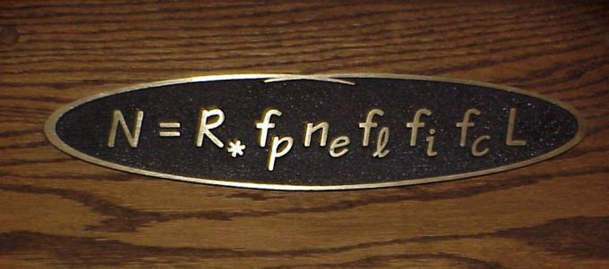 Drake's Equation: the calculation of the odds of making contact with other intelligent life in the universe