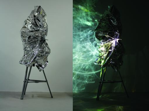 images of two installations by Melanie Jackson