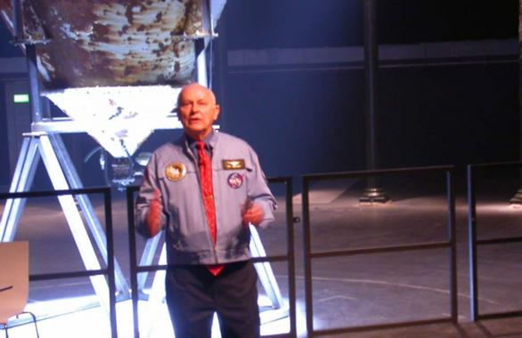 Alan Bean, Apollo astronaut, talking at the Roundhouse