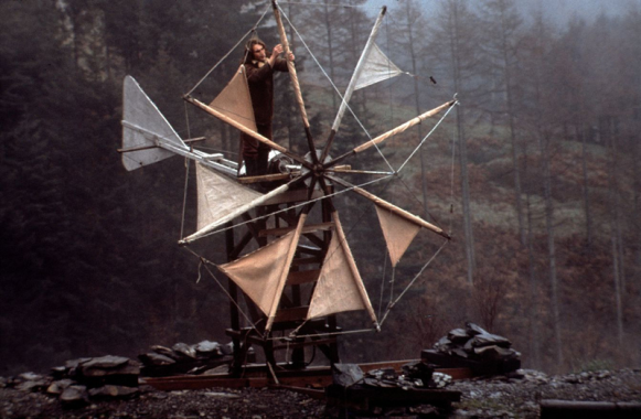 Verticle axis wind turbine construction, Centre for Alternative Technology archive