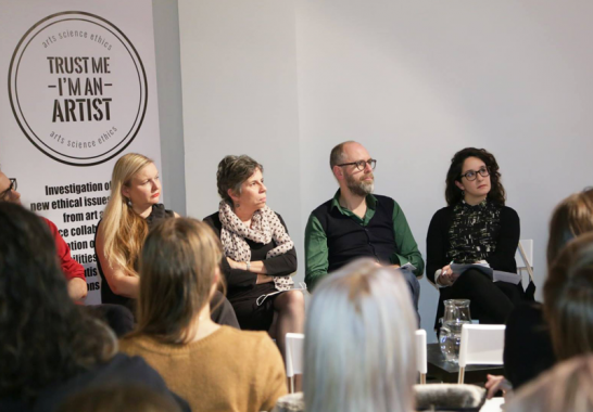Claudia Lastra, on a panel discussing art and ethics at CIANT, Czech Republic, 2015